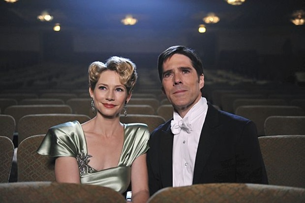 Meredith Monroe and Thomas Gibson as Haley and Aaron Hotchner, Criminal Minds ep. 9x05 Route 66