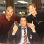 Matthew Gray Gubler directs Shemar Moore and Thomas Gibson on Criminal Minds episode 9x07 Gatekeeper