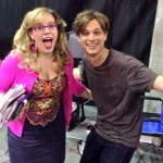 "Matthew Gray Gubler and Kirsten Vangsness behind the scenes while filming ""Gatekeeper""."