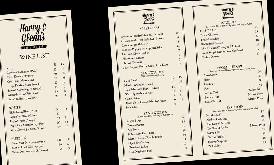 Menu high res yay