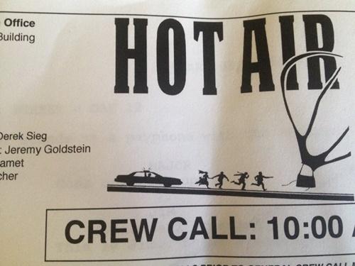 hot air crew call
