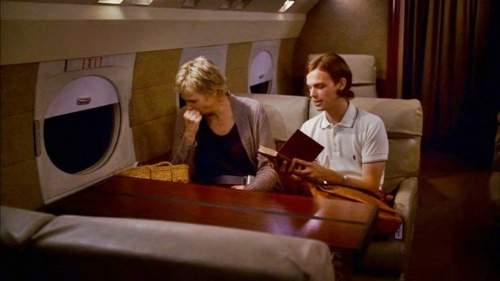 reid and mom on plane